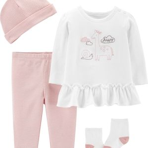 Carter's 3 Piece Baby Girl Outfit